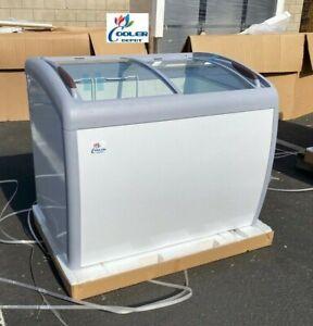 "NEW 39"" Ice Cream Gelato Chest Freezer Top Glass Display 9.2 Cubic Ft NSF ETL"