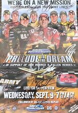 Autograph Official 2009 Prelude To A Dream Poster Signed NASCAR CUP CHAMPIONS