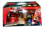 NINJABOTS 2 Pack of Battling Robots and 6 Intelligent Weapons Red Black Funny