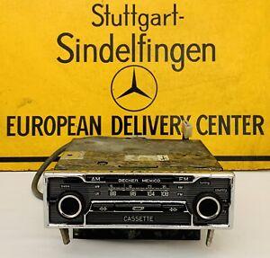 Becker Mexico Radio Cassette With Amplifier Mercedes Benz W107 W116 W123 W114