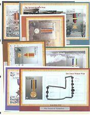 St Vincent 2002 War Medals 7 miniature sheets ex sg.MS5171 MNH