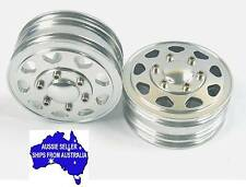 Alloy front wheels for Tamiya 1:14 RC Tractor Trailer Prime Mover King Hauler