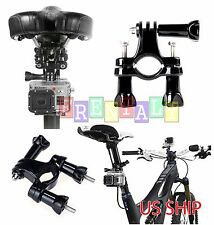 Black Bike Handlebar Seatpost Pole Mount for Gopro Hero 3 2 1 Camera Accessories