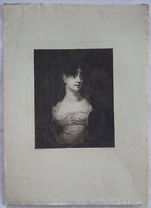 Original 1880 Etching of Henry Raeburn's Mrs Scott Moncrieff by Amand-Durand, C