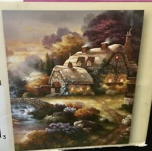 750 Piece Jigsaw Puzzle Of Stone Cottage Scene By James Lee, Mega Puzzles