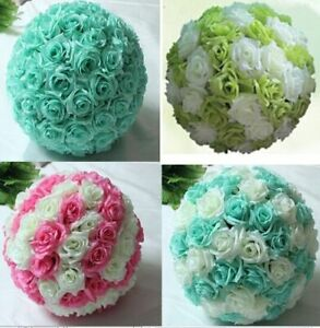 Artificial Rose Flower Kissing Balls Christmas Ornament Wedding Party Decoration