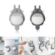 Cartoon Totoro Toothbrush Holder Sucker Plastic Storage Rack Bathroom Kids Spoon