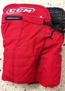 CCM+Pro Eishockey Hose mit Klett Patches Senior Größe L Farbe Rot