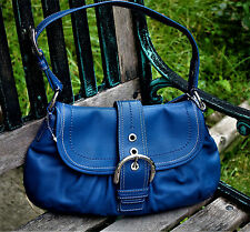 NWT Coach Blue Lether Hobo Bag