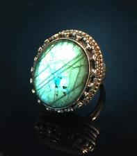 BRILLIANT! Labradorite and 925 Sterling Silver Ring Size 5.25