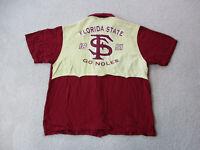 Chillwear Florida State Seminoles Button Up Shirt Adult 2XL XXL Red Gold Mens