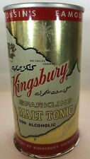 Kingsbury Sparkling Malt Tonic Non Alcoholic 12 Ounce Flat Top Beer Can