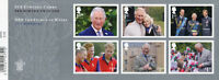 GB 2018 MNH Prince Charles 70th Birthday William Harry 6v S/A M/S Royalty Stamps