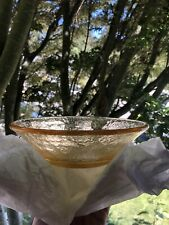 """Fire and Light Citrus Beveled 7"""" Bowl - Recycled Glass"""