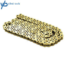 Drive Chain Gold Color 520 x114 ATV Motorcycle 520 Pitch 114 Links With O-Ring