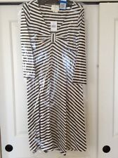 BRAND NEW KATE SPADE TULLIA DRESS LADIES XL 95% COTTON BLACK/CREAM STRIPED