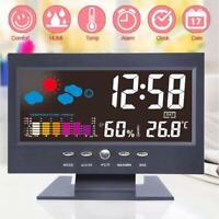 LCD Display Digital Thermometer Hygrometer Weather Station Alarm Clock Calendar