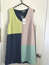 SIZE 14 NWT's JEANS WEST LINED SHIFT DRESS