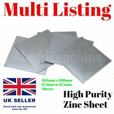 99.9% High Purity Pure Zinc Sheet Plate Metal Science Lab Hobby Arts Model DIY