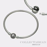 "Authentic Pandora Sterling Silver Bangle Bracelet 7.5"" 590713"