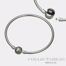 "Authentic Pandora Sterling Silver Bangle Bracelet 8.3"" 590713-21"