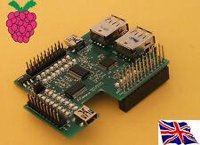 Rs-Pi 4 USB Hub & I2C 23017 x2 32 bit GPIO multi-function Board for Raspberry Pi