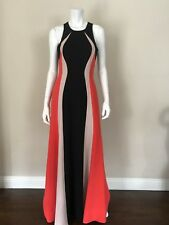 BCBG MAXAZRIA NWT Color-blocked Sleeveless Polyester Gown Long Dress Size 06