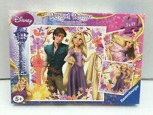 3x 49 pcs jigsaw puzzle: Disney - Rapunzel (Ravensburger 092987)