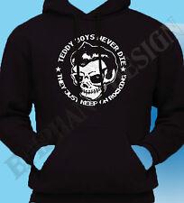 Teddy boyt-shirt Rock And Roll Cafe Racer 50's Hoody Con Capucha medio Oferta Especial
