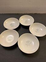 """5 Vintage Homer Laughlin/Royal Stetson Royal Maytime 5.25"""" Diameter Small Bowls"""