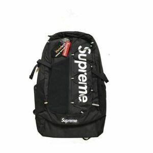 Brand Sup 17ss Black Backpack Waterproof Box Logo Mountaineering Bags Travel .