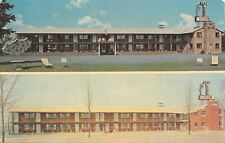 Gaylord Michigan~Gay Lord Motelin Summer & Winter 1950s Postcard
