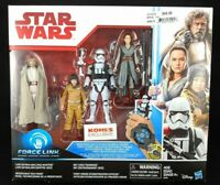 STAR WARS THE LAST JEDI 4 Figure Pack Force Link Capable (Kohls Exclusive) New!