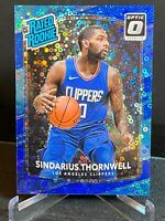 2017 Panini Donruss Optic Fast Break Blue Prizm /50 Sindarius Thornwell Rookie
