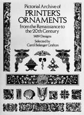 PICTORIAL ARCHIVE OF PRINTER'S ORNAMENTS 1489 DESIGNS CAROL BELANGER GRAFTON