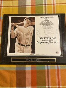 Babe Ruth Induction Day Plaque