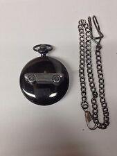 Saab Sonette 1 ref225 Pewter Effect Car on a polished Black Case Pocket Watch