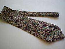 Men's Nordstrom 100% Silk Rusty Brown with Colored Design Necktie tie