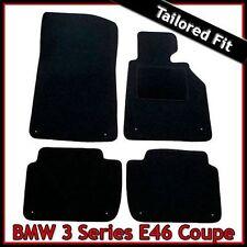 BMW 3-Series E46 Coupe 1999-2006 a medida ajustada Alfombra Coche Tapetes Negro