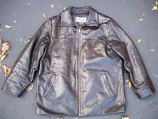 Vtg Wilsons Leather Black Motorcycle Biker Riding Thinsulate Men's Jacket Coat L
