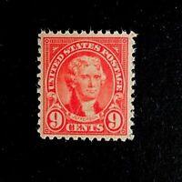 US Stamps, Scott #561 9c 1923 Jefferson VF M/NH. Beautiful and fresh.