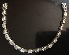 "Graduated CZ Tennis Bracelet Sterling Silver 7.5"""
