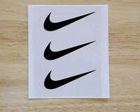 9 Nike Swoosh Iron On Logos 2 Inches Heat Transfer Vinyl HTV Black