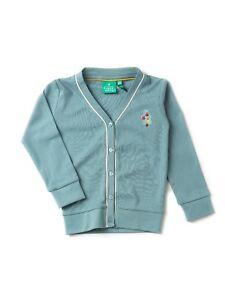 Little Green Radicals Organic Pointelle Cardigan 3 4 5 6 7 8 Blue