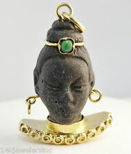 18K Vintage Blackwood African Head Charm