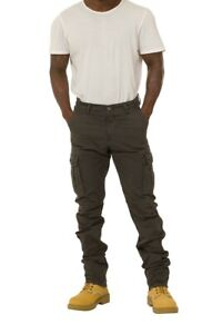 Men's Grey Combat Trousers with Cargo pockets - Waist 36