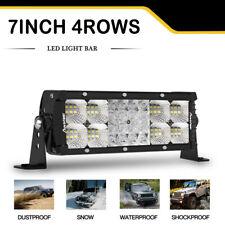 """7"""" inch 400W LED Light Bar Flood Spot Fog Light  White Color Truck ATV"""