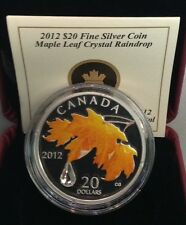 2012 Canada $20 Maple Leaf with Crystal Raindrop