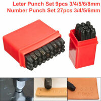 4-8MM  Numeri & Lettera Acciaio Metallo Morire Pelle Francobollo Punch Strumento