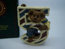 Boyds Bears Cute New Age 5 Number L T. Beanster Resin Child Gift With Box
